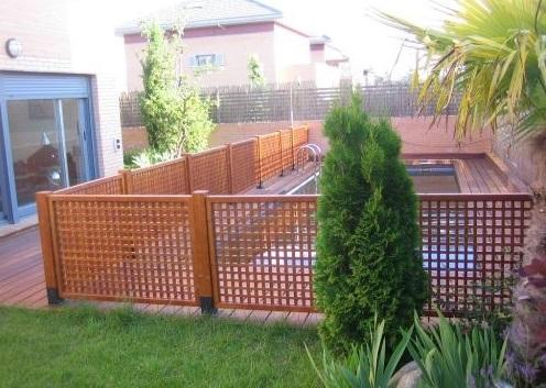 Reja madera jardin images - Rejas para jardin ...