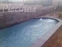 Piscina 6x3 borde en porcenalato color gris
